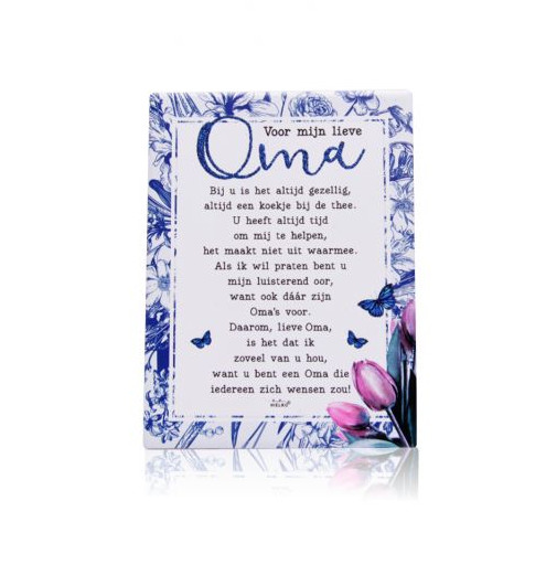 Spiksplinternieuw Gedichtentegel 'Mijn lieve Oma' - Au Goût Exclusif JB-41