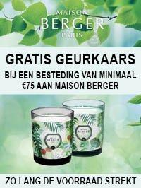 Gratis Maison Berger geurkaas actie - Au Goût Exclusif